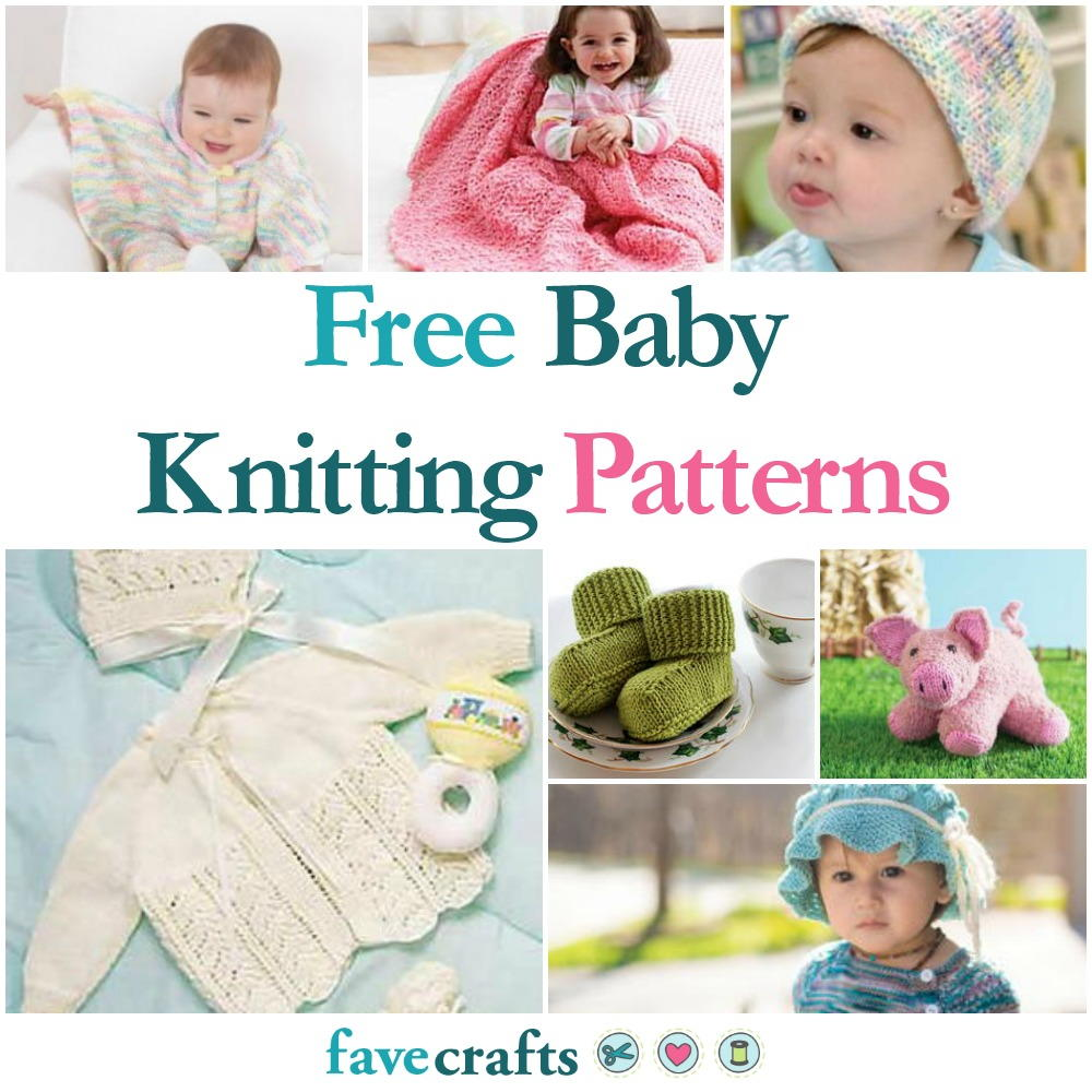 59 free baby knitting patterns for Fave crafts knitting patterns