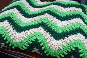 Textured Chevron Throw
