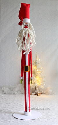 Upcycled Paper Tube Santa Claus | AllFreeChristmasCrafts com