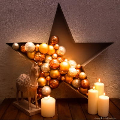 Super Easy Bauble and Light Filled Star