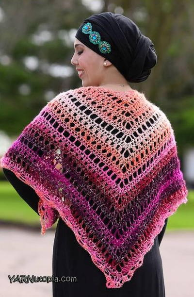 Beautiful Crochet Summer Shawl