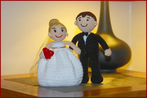 Crochet Amigurumi Bride and Groom