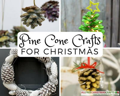Pine Cone Crafts for Christmas
