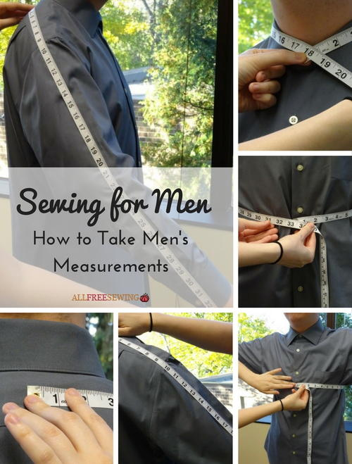 Sewing for Men: How to Take Men's Measurements