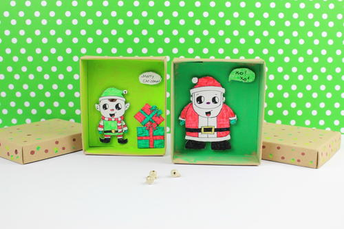 Colorful Christmas Comic Wishing Boxes