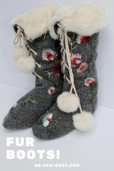 Chic Indoor Fur Boots