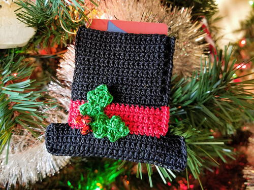 Snowman Hat Ornament/Gift Card Holder