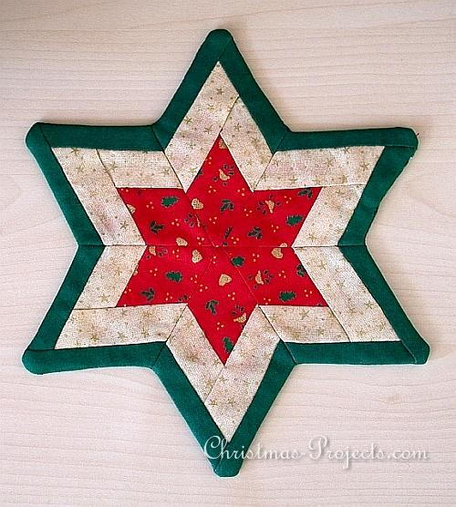 Elegant Christmas Patchwork Star