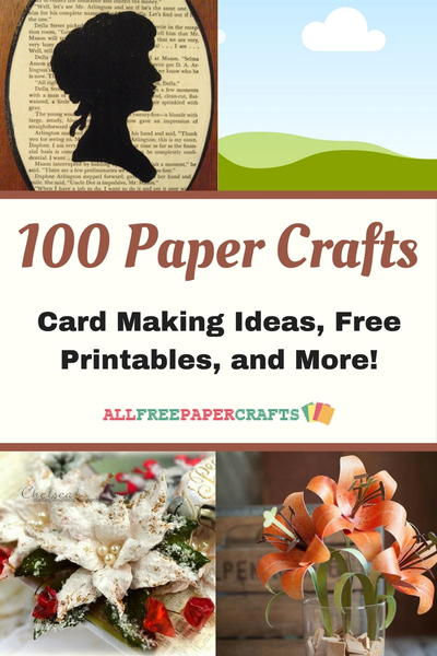 picture relating to Printable Paper Crafts for Adults identified as 100 Paper Crafts: Card Manufacturing Plans, Free of charge Printables, and