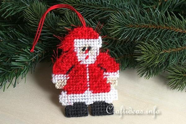 Plastic Canvas Santa Claus Ornament