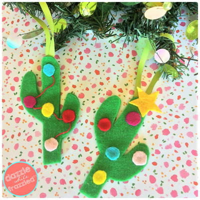 Felt Cactus Ornament and Gift Topper