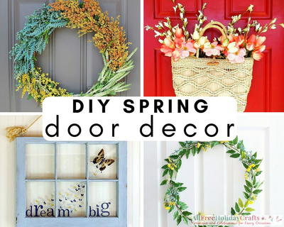 24 Diy Spring Door Decor Ideas Allfreeholidaycrafts Com