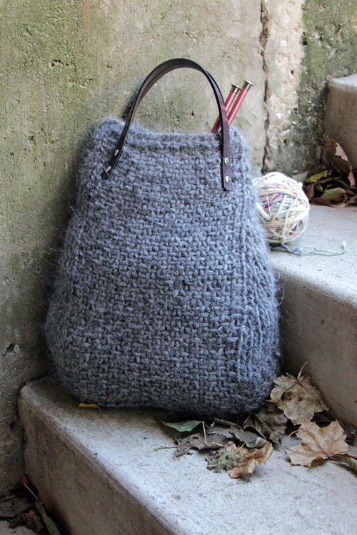 Ash Heather Knit Tote
