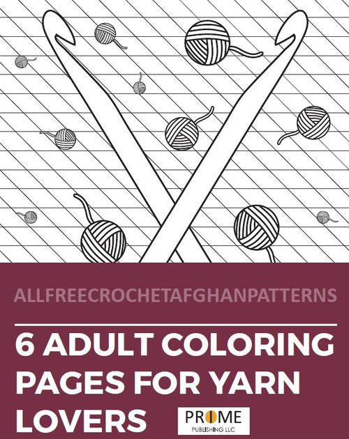 6 Yarn Coloring Pages for Adults