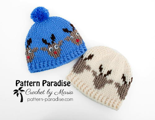 Reindeer Graphic Hat