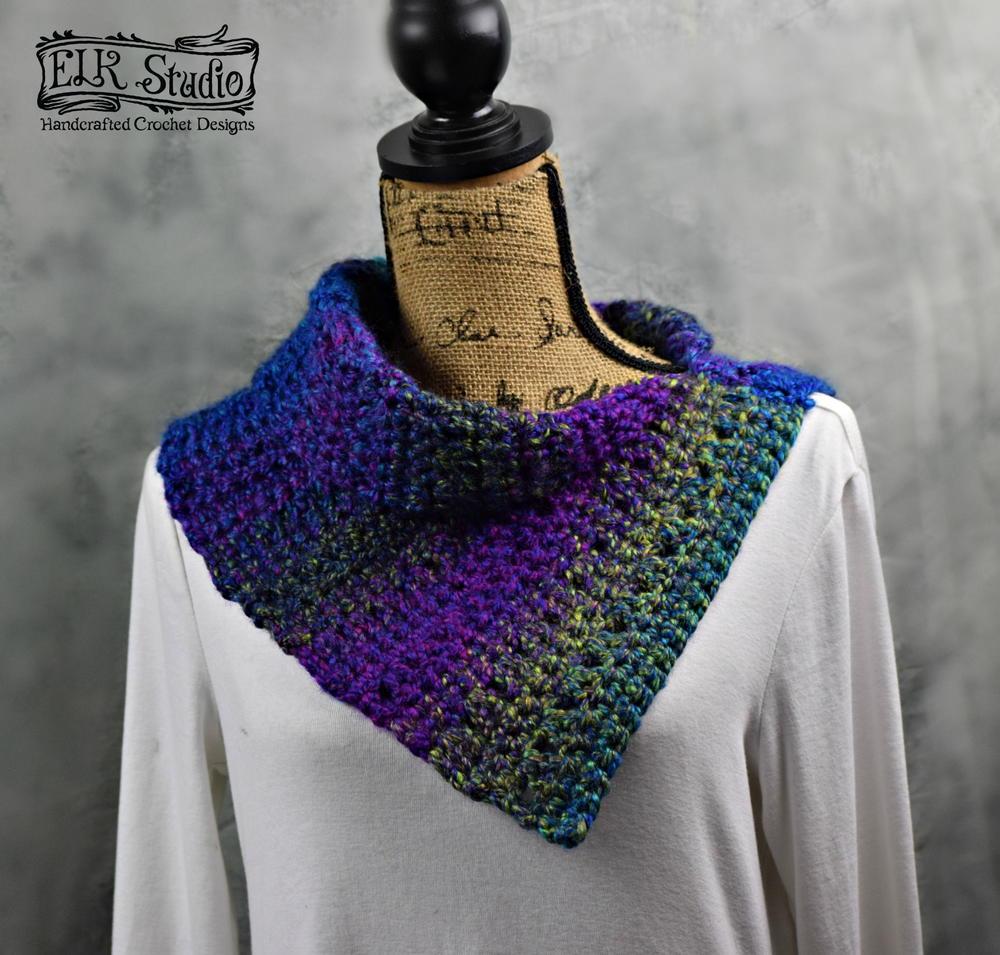 cosmic scarf allfreecrochet