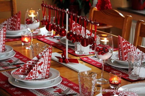 Scandinavian-Style Christmas Table Setting