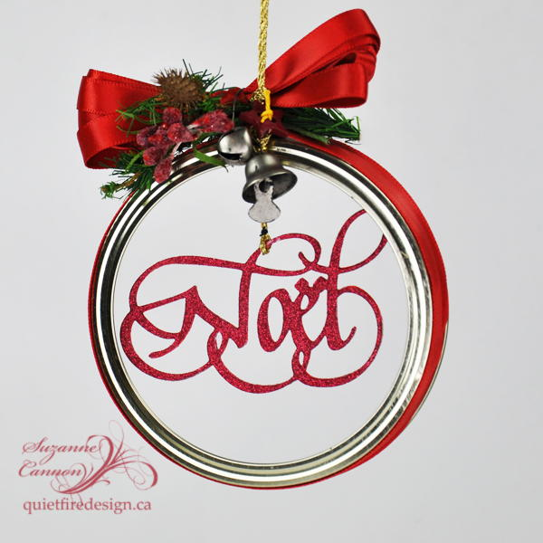 Mason Jar Lid Noel Ornament