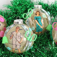 1960s Sewing Christmas Ornaments
