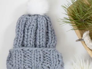 Quick Pretty Chunky Knit Hat Pattern