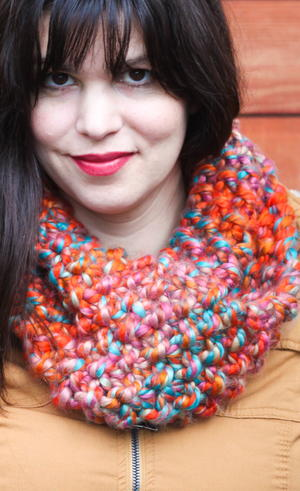 Chunky Seed Stitch Knit Cowl