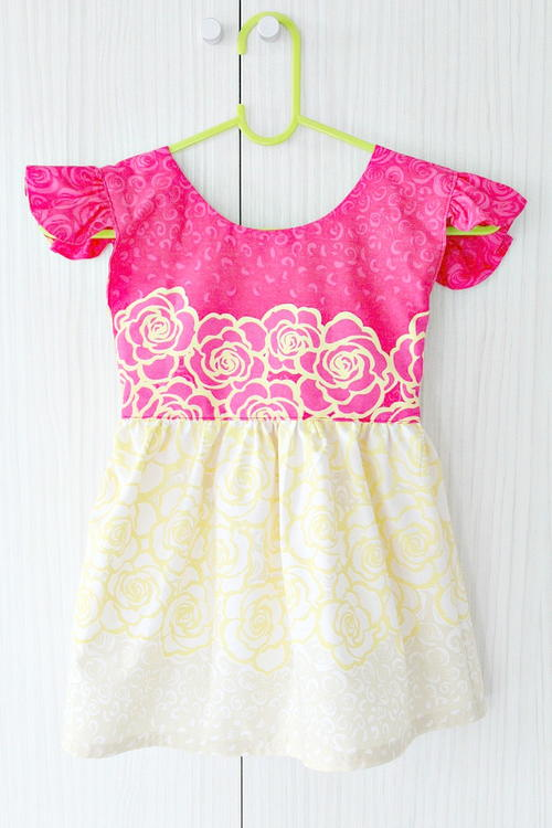 Flutter Sleeve Dress for Girls