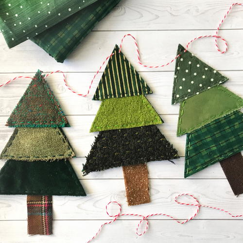 Scrap-Busting Christmas Tree Banner