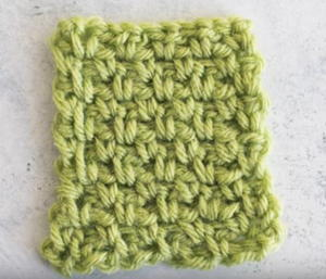 Crochet Moss Stitch Tutorial