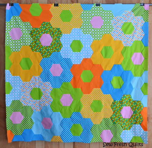 That 70s Flower Hexagon Quilt