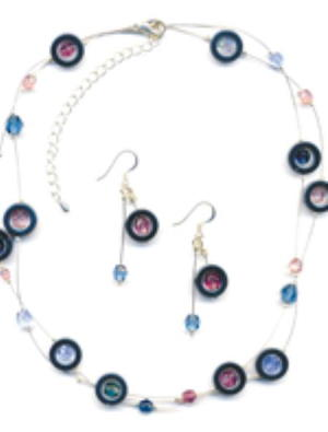 Interplanetary Necklace and Earrings