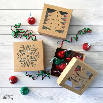 DIY Cardstock Christmas Boxes