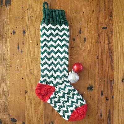 Minnesota Chevron Knit Stocking