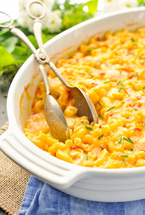 Dump-and-Bake Chicken Mac and Cheese