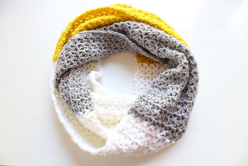 Simple V-stitch scarf_1
