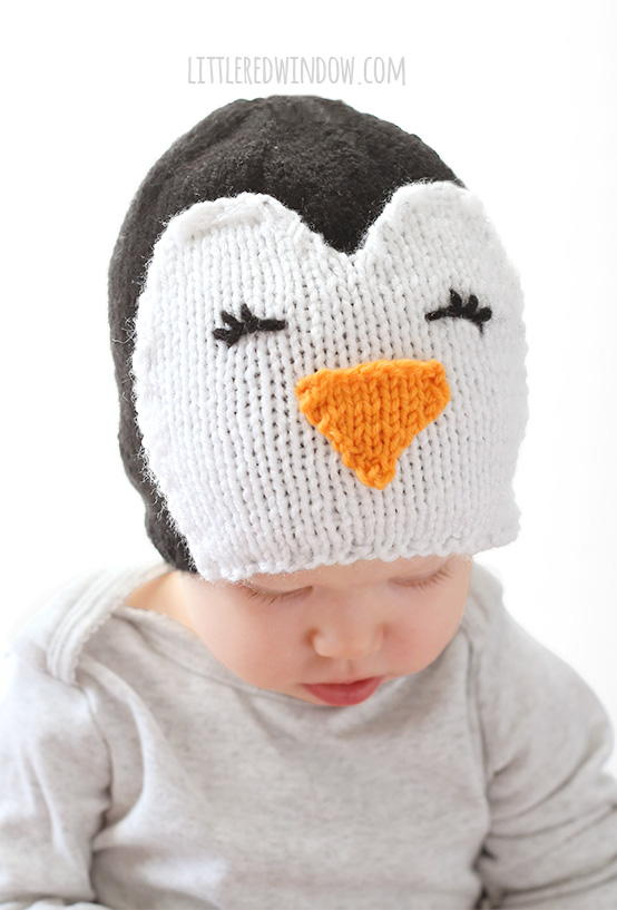 Cozy Knit Penguin Hat