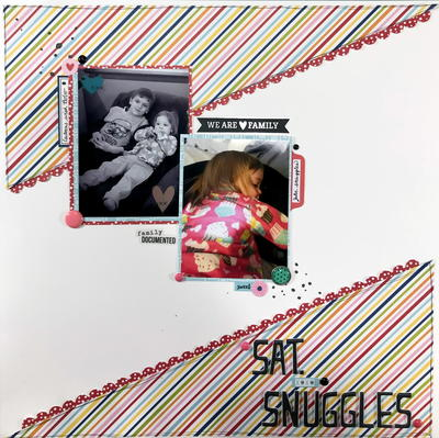 Saturday Snuggles Scrapbook Layout