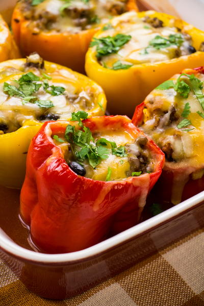 Mexican Stuffed Peppers without Rice
