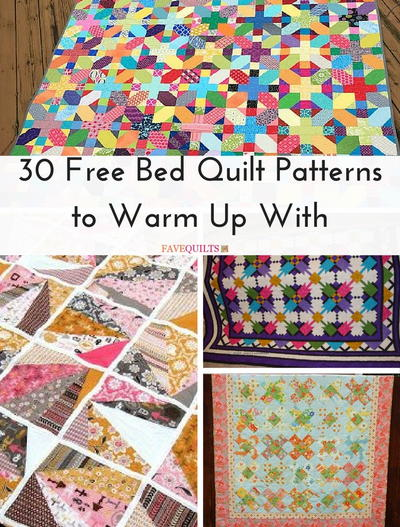 30 Free Bed Quilt Patterns to Warm Up With | FaveQuilts com