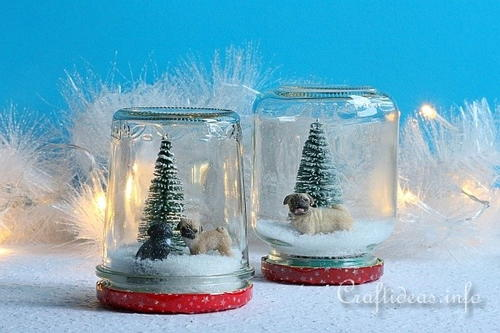 Adorable House Pets Snow Globe