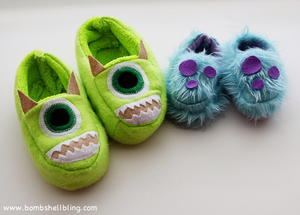Tip-Toeing Monsters Free Slipper Pattern
