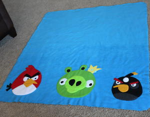 Crazed Angry Birds Blanket