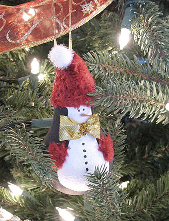 Light Bulb Penguin Ornament