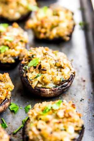 Garlic Parmesan Easy Stuffed Mushrooms