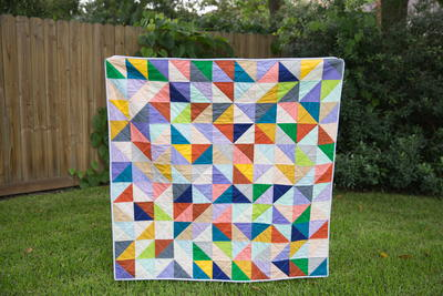Adorable Triangle Baby Quilt