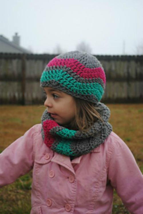 Winter Waves Chevron Cowl for Toddlers