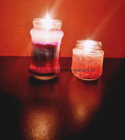 DIY Decorative Gel Candles