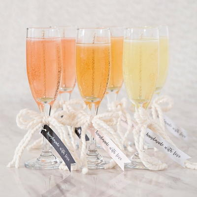 Pour the Bubbly Wedding Candles