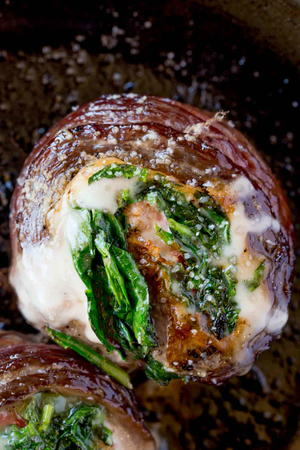 Spinach Artichoke Stuffed Flank Steak