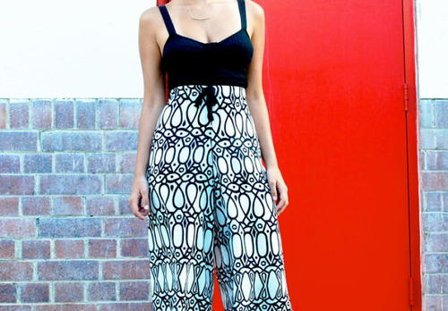 Retro-Inspired Printed Palazzo Pants