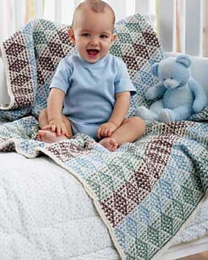 Multicolored Diamond Blanket